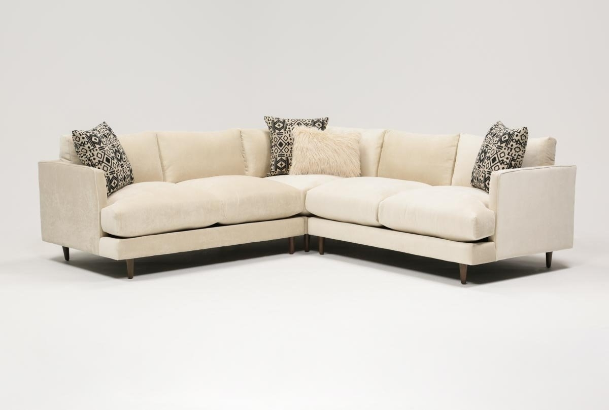 Adeline 3 Piece Sectional | Living Spaces Pertaining To Malbry Point 3 Piece Sectionals With Raf Chaise (Image 13 of 25)