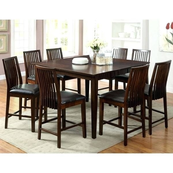 Adorable 9 Piece Counter Height Dining Set Graphics, Lovely 9 Piece Within Craftsman 9 Piece Extension Dining Sets (View 8 of 25)