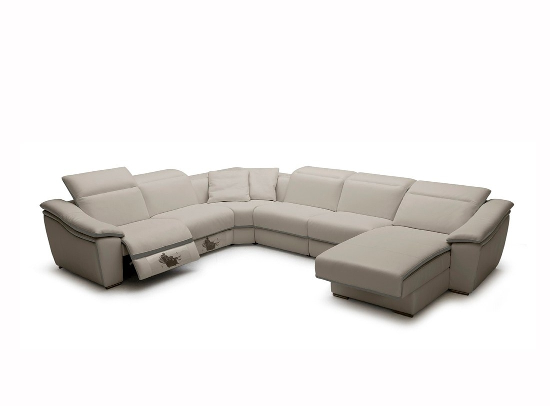Adorable Sale Grey Lear Sectional Sofa Recliners Light Grey Lear In Tenny Dark Grey 2 Piece Left Facing Chaise Sectionals With 2 Headrest (Image 4 of 25)