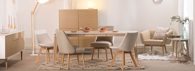 Affordable Extending Dining Tables For Sale – Miliboo With Regard To Shiny White Dining Tables (Image 3 of 25)