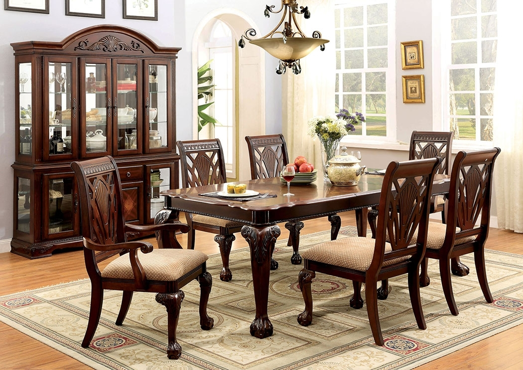 Affordable Mattress And Furniture Petersburg L Cherry Rectangle With Regard To Craftsman 7 Piece Rectangle Extension Dining Sets With Side Chairs (Image 1 of 25)