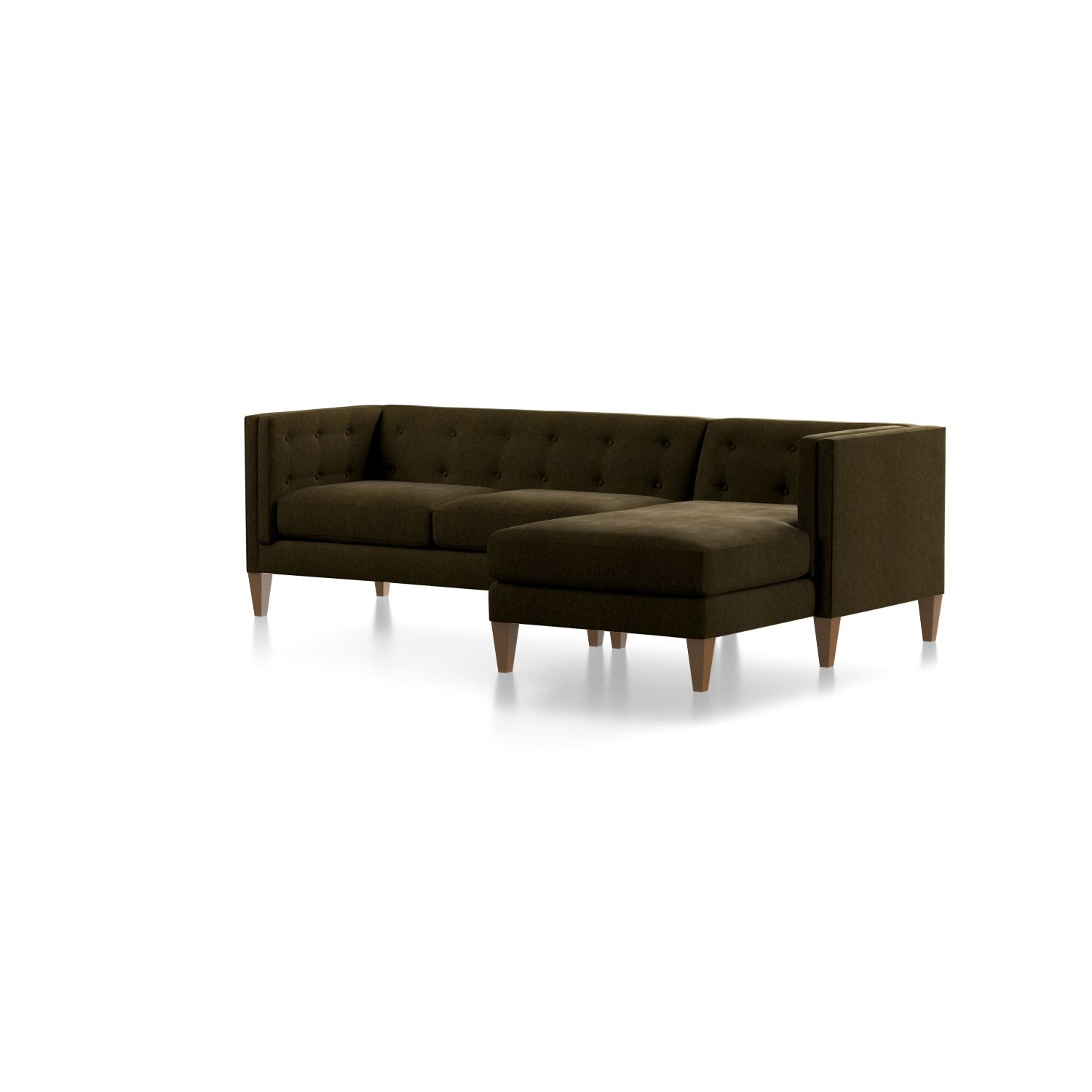 Aidan Green Sectional Sofa With Chaise + Reviews | Crate And Barrel Intended For Aidan 4 Piece Sectionals (Image 1 of 25)