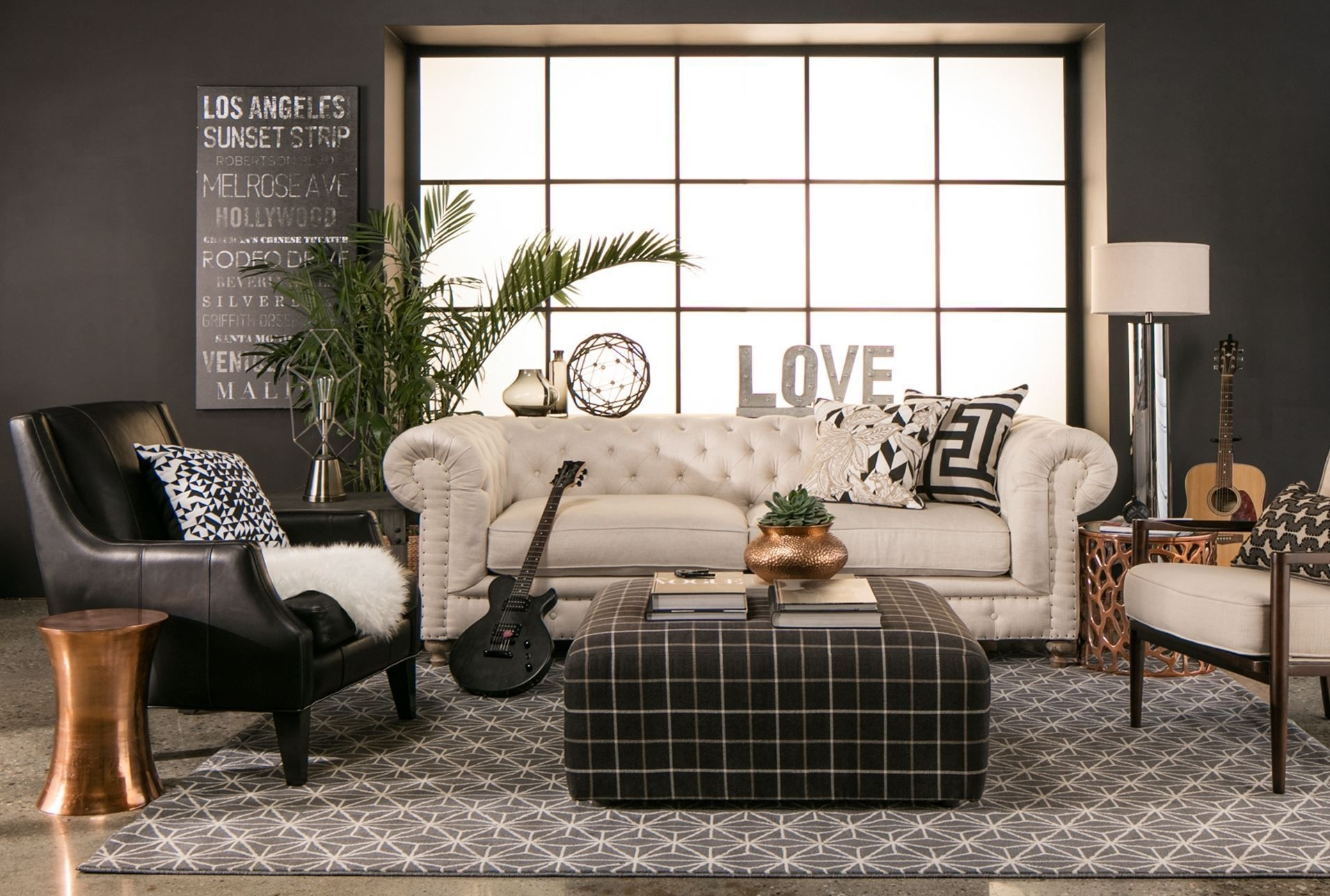 Aidan Leather Accent Chair, Black | Pinterest | English Cottages For Aidan 4 Piece Sectionals (View 24 of 25)