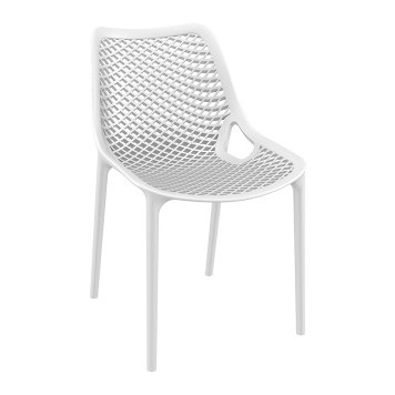 Air Resin Dining Chair White Perth, Wa | Oasis Umbrella World Pertaining To Perth White Dining Chairs (Image 3 of 25)