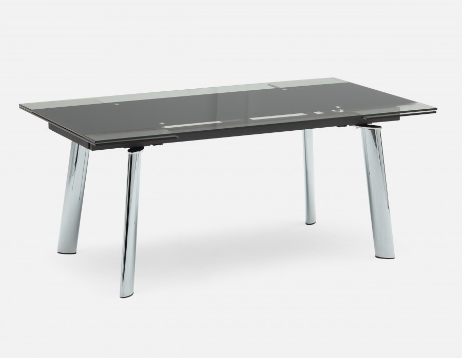 Ako Glass Extendable Dining Table | Structube For Extendable Glass Dining Tables (Image 1 of 25)