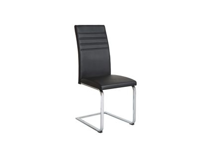 Alcora Dining Chair In Black (Pair) | Dining Room Furniture Throughout Alcora Dining Chairs (View 1 of 25)