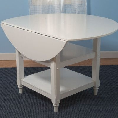 Alcott Hill Bristol Point Drop Leaf Dining Table Finish: Off White With Helms Round Dining Tables (View 20 of 25)