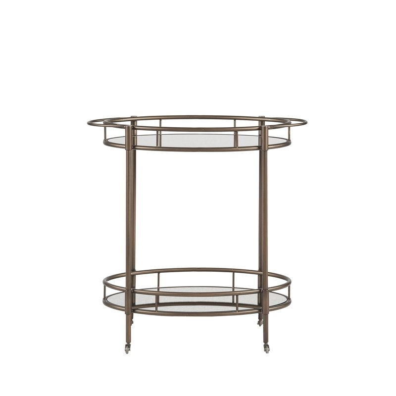 Alcott Hill Kuiper Bar Cart | Wayfair Pertaining To Palazzo 7 Piece Rectangle Dining Sets With Joss Side Chairs (Image 12 of 25)