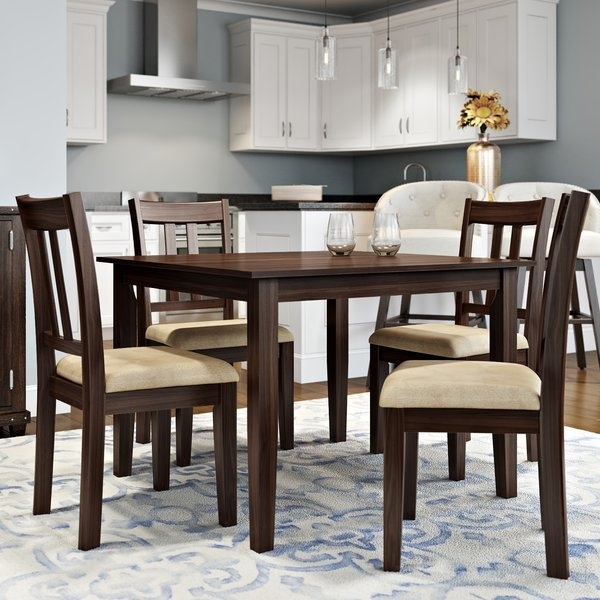Alcott Hill Primrose Road 5 Piece Dining Set & Reviews | Wayfair For Cheap Dining Room Chairs (View 7 of 25)