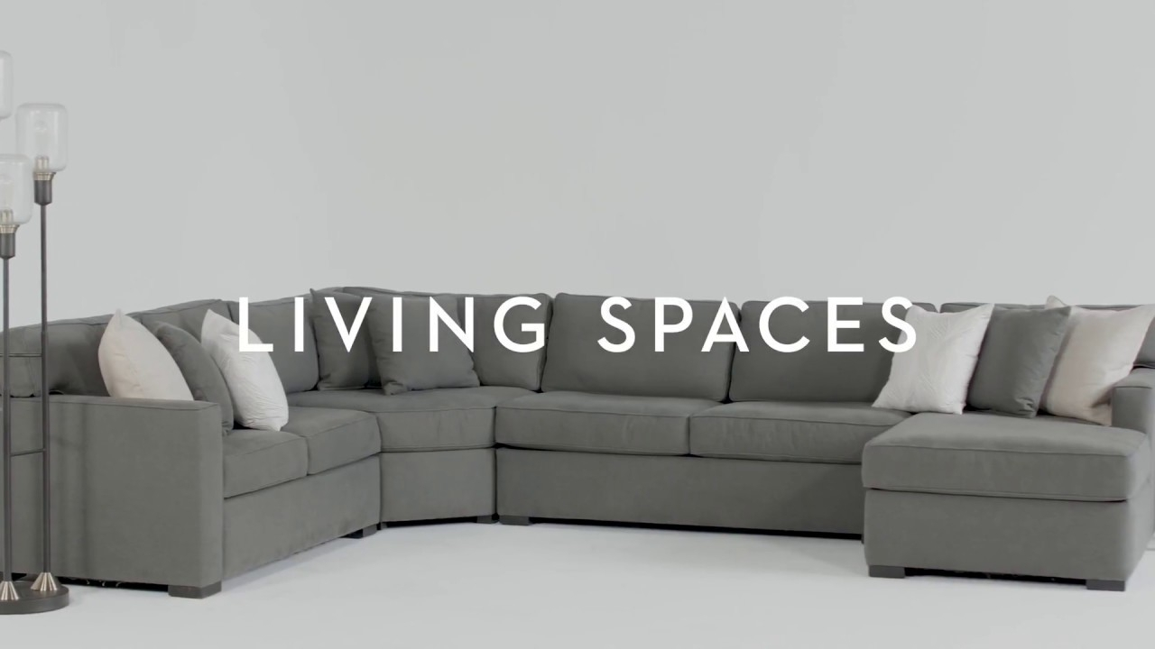 Alder 4 Piece Sectional | Living Spaces – Youtube Regarding Alder 4 Piece Sectionals (Image 6 of 25)