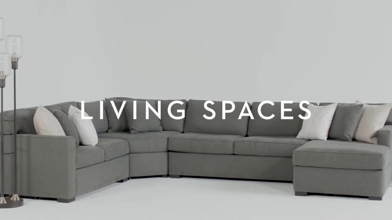 Alder 4 Piece Sectional | Living Spaces – Youtube Regarding Alder 4 Piece Sectionals (Image 6 of 25)