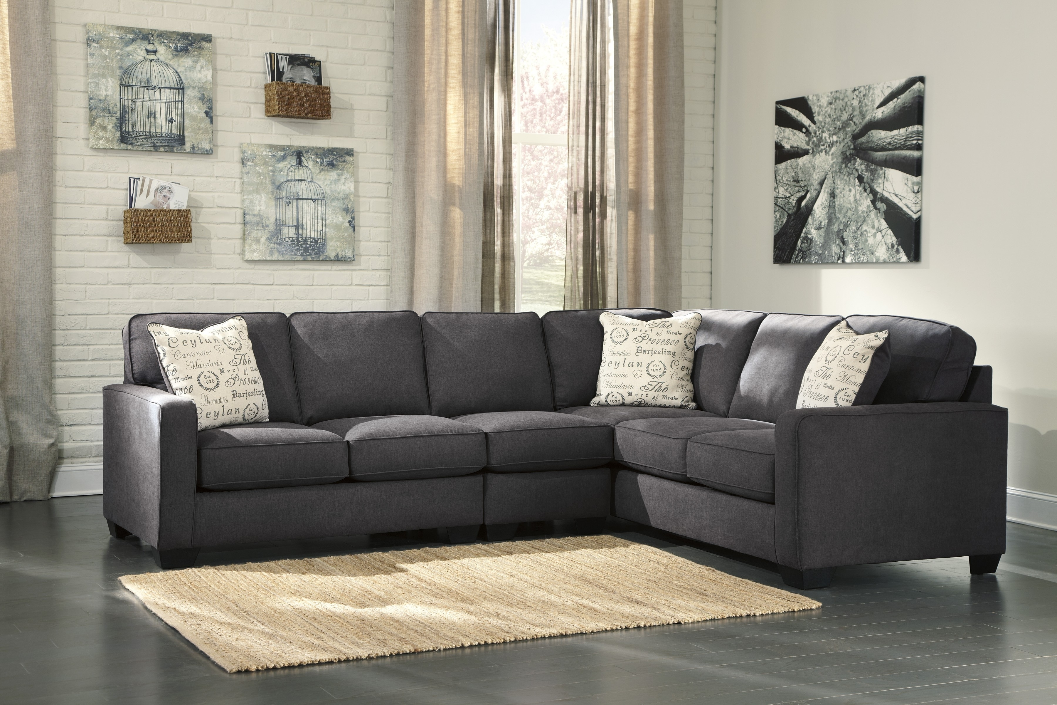 Alenya Charcoal 16601 3 Pc Sectional With Regard To Sierra Foam Ii 3 Piece Sectionals (Image 2 of 25)