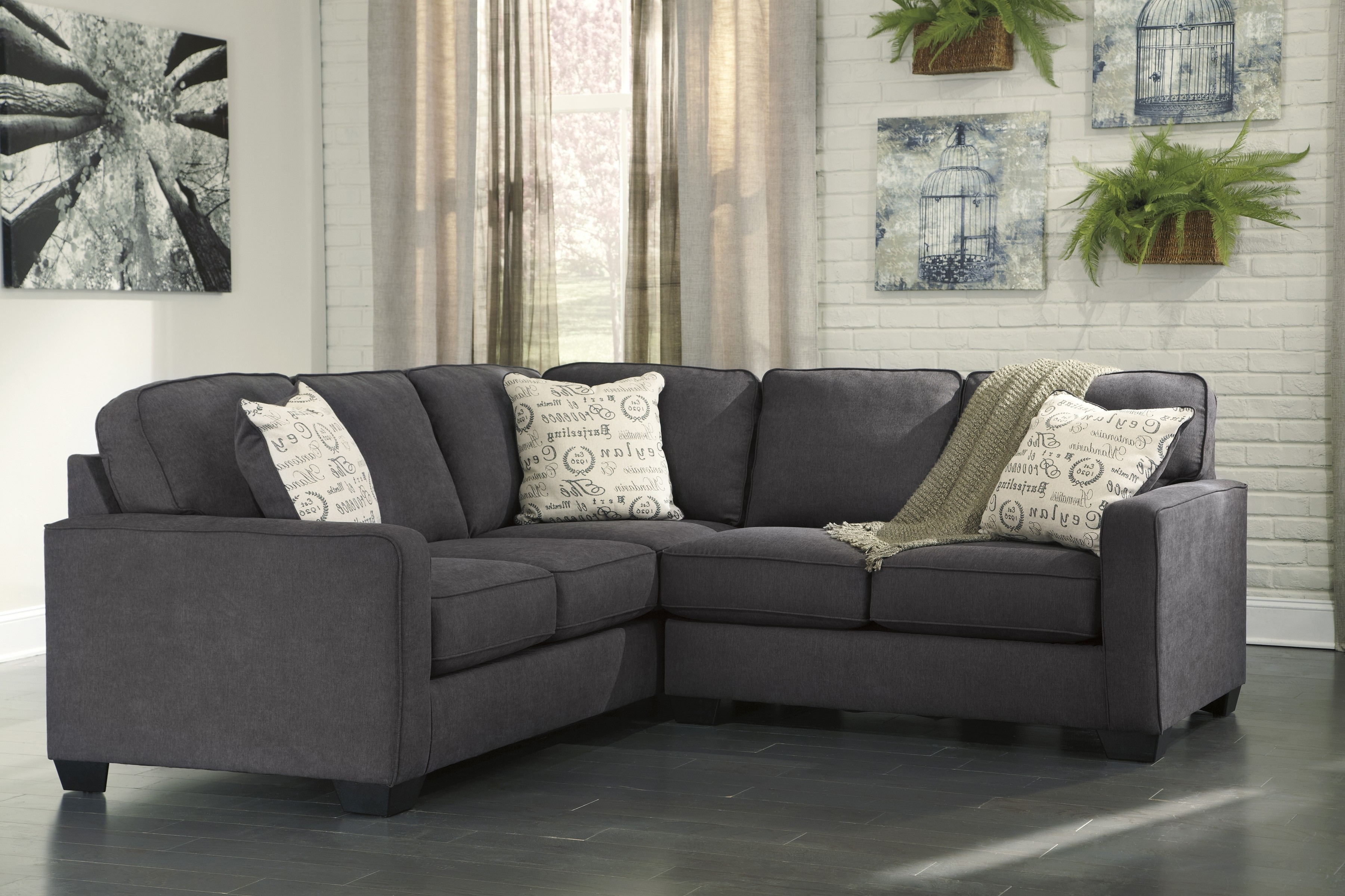 Alenya Charcoal Piece Sectional Sofa For Furnitureusa Raf Love Tures For Aspen 2 Piece Sectionals With Laf Chaise (Image 1 of 25)