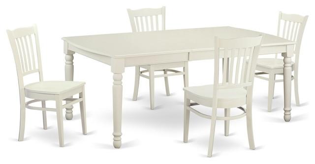 Alexa Rectangular Dining Table Set, White – Traditional – Dining With Carly Rectangle Dining Tables (Image 3 of 25)