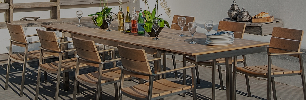 Alexander Rose Cologne 8 Seat Dining Set Pertaining To Extending Outdoor Dining Tables (Image 1 of 25)