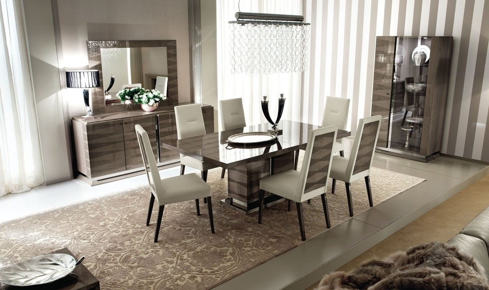 Alf Contemporary Dining Set Monaco Regarding Contemporary Dining Sets (View 21 of 25)
