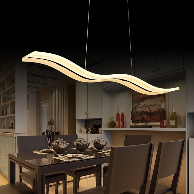 Aliexpress : Buy 40W/56W Led Pendant Lights Modern Kitchen Regarding Dining Tables Ceiling Lights (Image 3 of 25)
