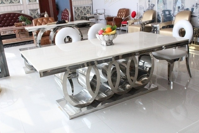 Aliexpress : Buy Dining Table Marble And Chair Cheap Modern Within Dining Tables And 8 Chairs For Sale (View 7 of 25)