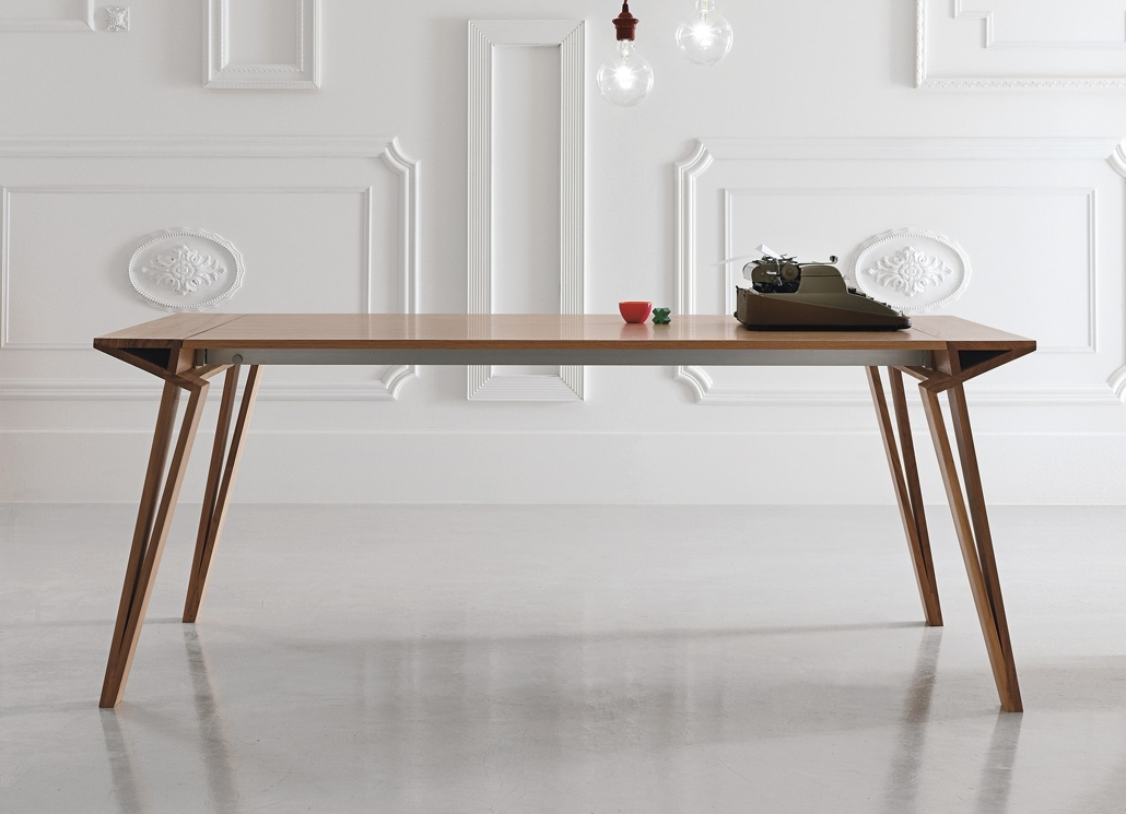 Alivar Oblique Extending Dining Table – Alivar Furniture At Go With Regard To Dining Tables London (Image 1 of 25)