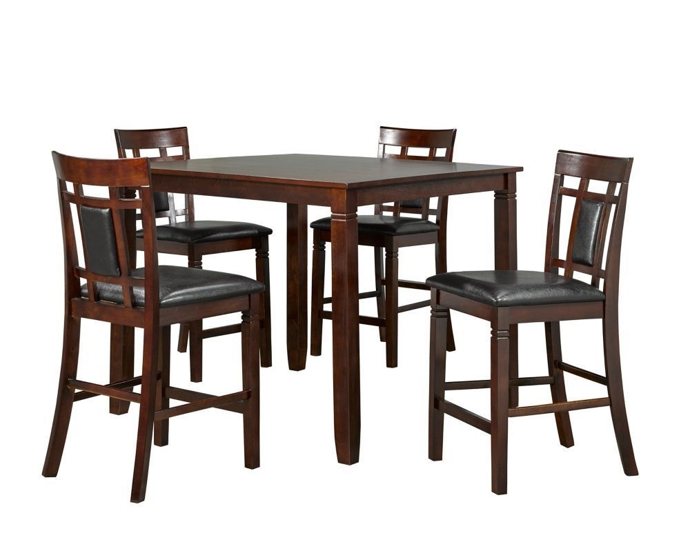 Aliya 5 Piece Pub Set, Espresso | Pub Table Sets | Pinterest | Pub With Regard To Rocco 9 Piece Extension Counter Sets (Image 5 of 25)
