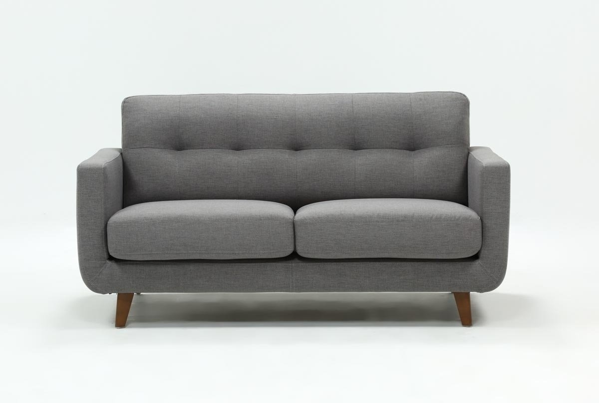 Allie Dark Grey Twin Plus Sleeper Sofa | Living Spaces Within Mcdade Graphite 2 Piece Sectionals With Laf Chaise (View 25 of 25)