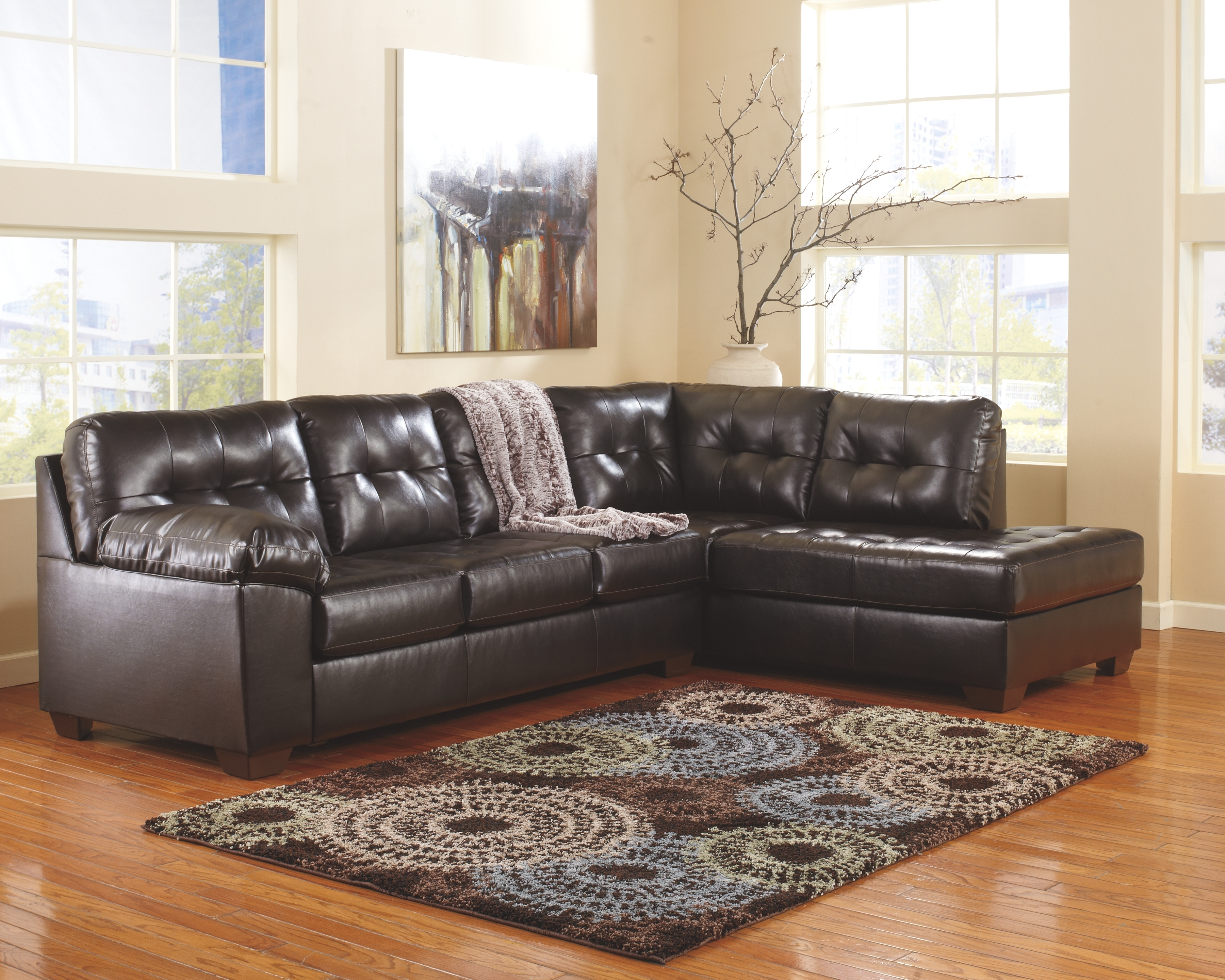 Alliston 2 Piece Sectional, Chocolate | Products | Pinterest | Products For Marissa Ii 3 Piece Sectionals (Image 1 of 25)