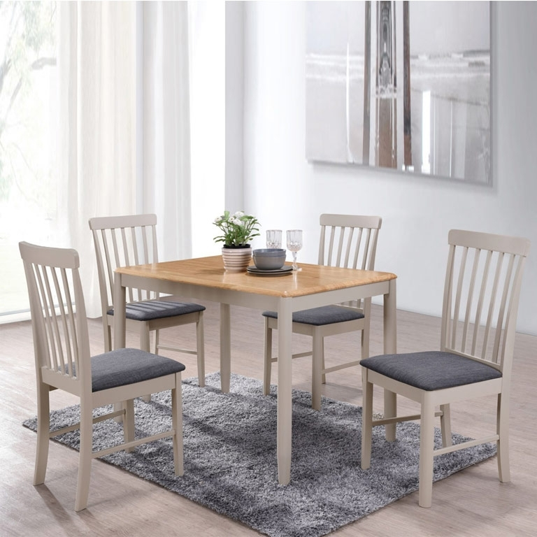 Alston Painted Grey 3Ft 7 Dining Table Set & 4 Chairs With 3Ft Dining Tables (View 22 of 25)