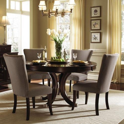 "Alston Round Pedestal Dining Table & Chairskincaid 54"" $1,513 With Pedestal Dining Tables And Chairs (Image 6 of 25)"