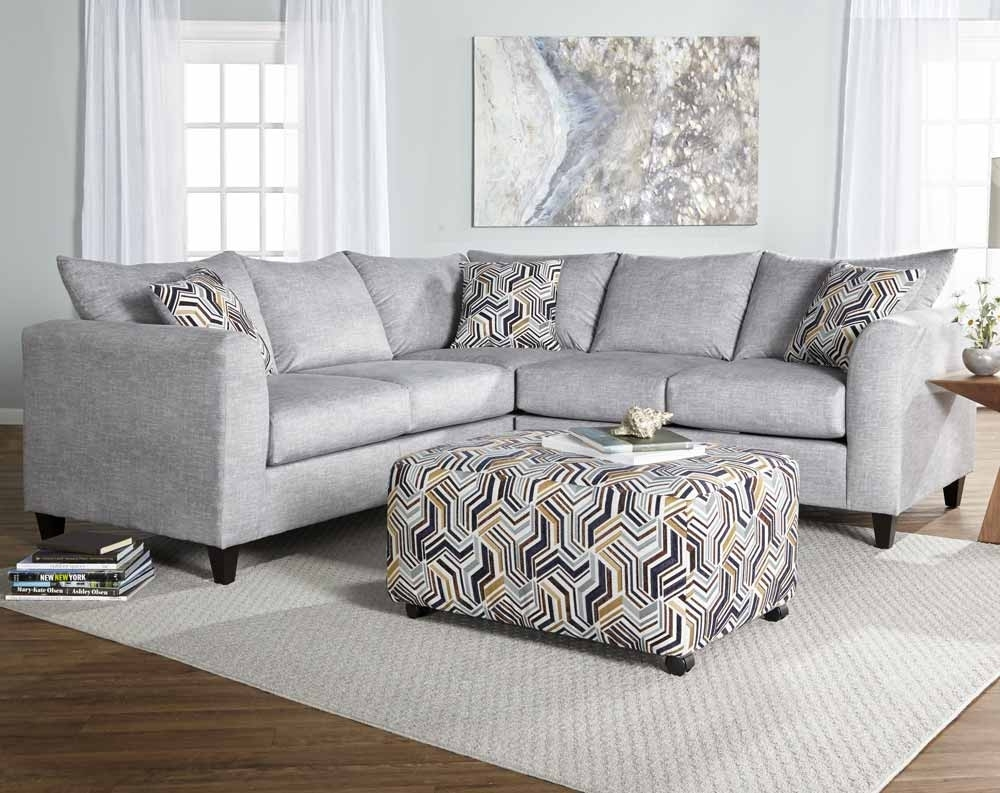 Alton Silver Gray 2 Piece Sectional Sofa | American Freight Regarding Norfolk Grey 6 Piece Sectionals (Image 4 of 25)
