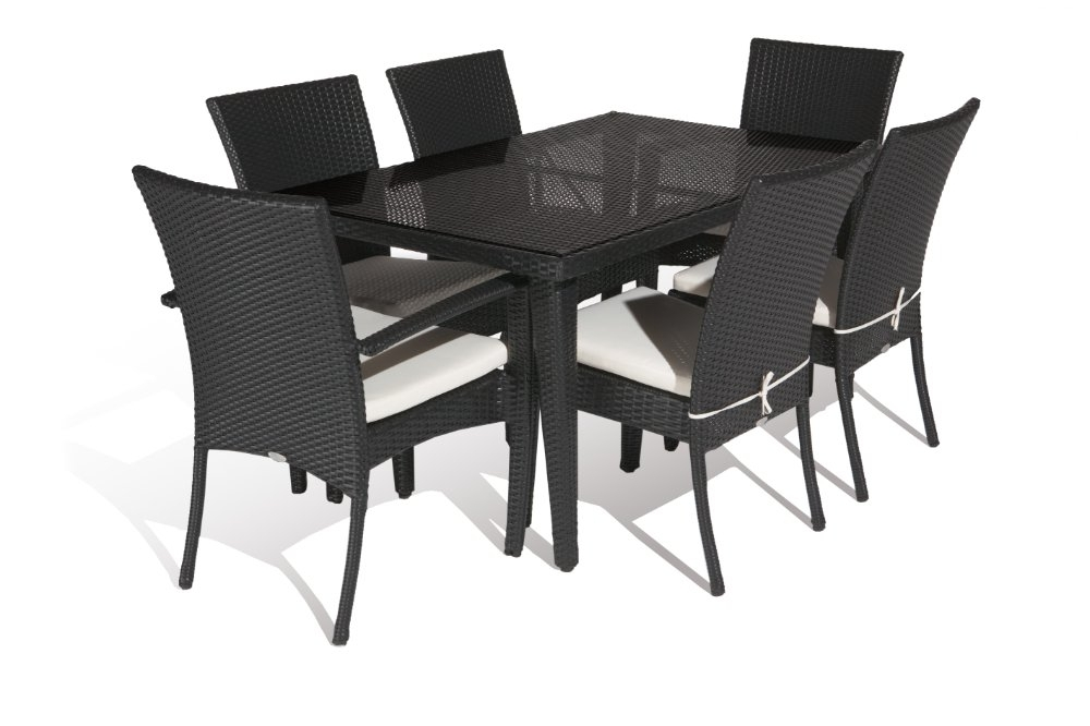 Aluminium Outdoor Pe Rattan Economic Dining Table Set In Garden Sets Within Rattan Dining Tables (View 10 of 25)
