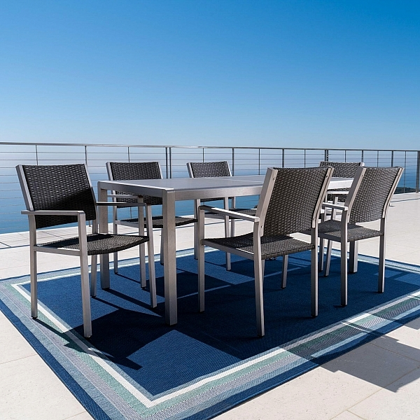 Aluminum Wade Logan Outdoor Products | Luxury Outdoor Furniture & Garden Pertaining To Logan 7 Piece Dining Sets (View 23 of 25)