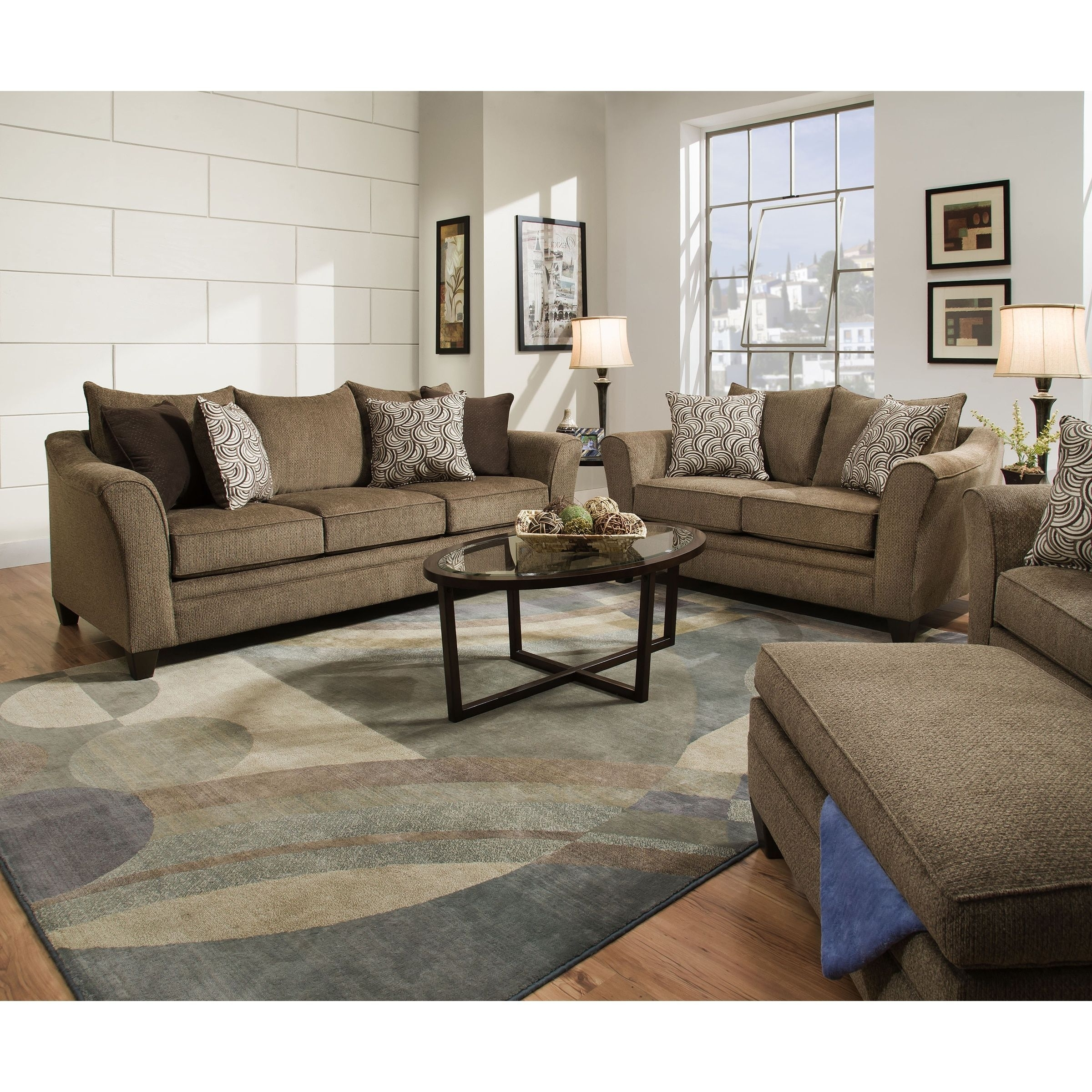 """Alvarez Natural Wool Blend 12""""x18"""" Rug Swatch Inside Adeline 3 Piece Sectionals (View 23 of 25)"""