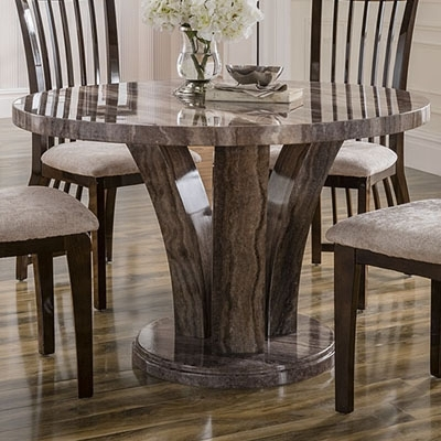 Amari Marble Round Dining Table – Robson Furniture Inside Round Dining Tables (View 19 of 25)