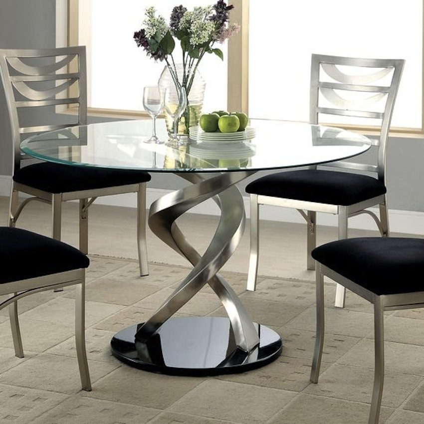 Amazing Modern Glass Dining Tables With Regard To Glasses Dining Tables (Image 3 of 25)