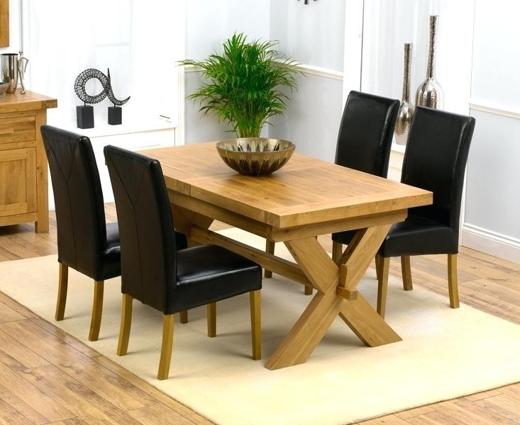 Amazing Oak Dining Table And 4 6 View Larger Round Oak Dining Table With Oak Dining Tables And 4 Chairs (Image 2 of 25)