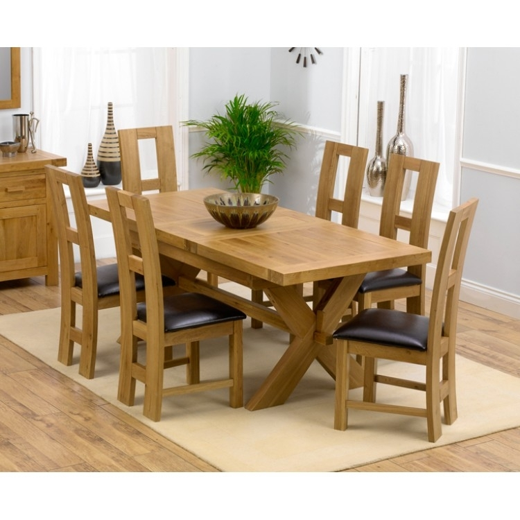 Amazing Offers On Mark Harris Avignon Oak From Oak Furniture House For Oak Extending Dining Tables Sets (Image 1 of 25)