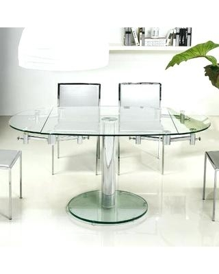 Amazing Oval Glass Dining Tables Collection Glass Extending Dining For Glass Extending Dining Tables (Image 2 of 25)