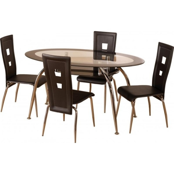 Amazing Small Glass Dining Table And 4 Chairs Dining Room Patterned Intended For Cheap Glass Dining Tables And 4 Chairs (View 7 of 25)