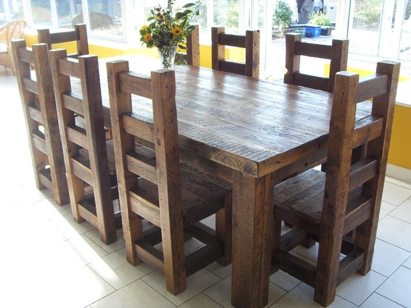 Amazing Teak Wood Solid Wood Dining Table Arts Bench Design – 4 For Dark Solid Wood Dining Tables (View 13 of 25)