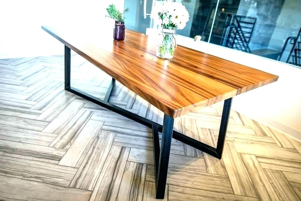 Amazing Trendy Wrought Iron Dining Table 3 Interior Legs Diy Room Pertaining To Iron And Wood Dining Tables (Image 2 of 25)