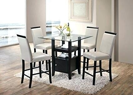Amazon Dining Set Bar Height Room Table Sets Kings Brand 5 Piece With Hyland 5 Piece Counter Sets With Stools (Image 1 of 25)
