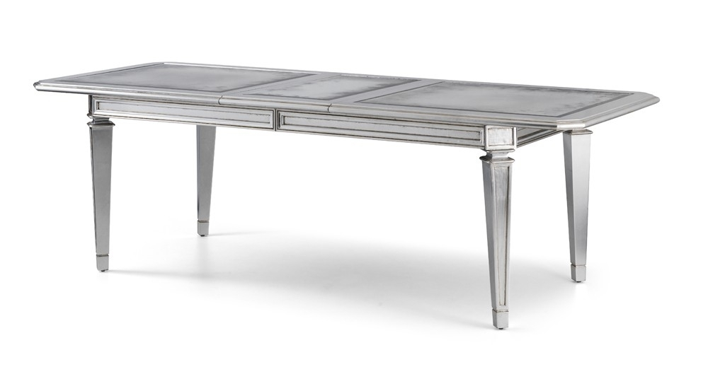 Amelie French Silver Extending Dining Table – Crown French Furniture Intended For French Extending Dining Tables (View 23 of 25)