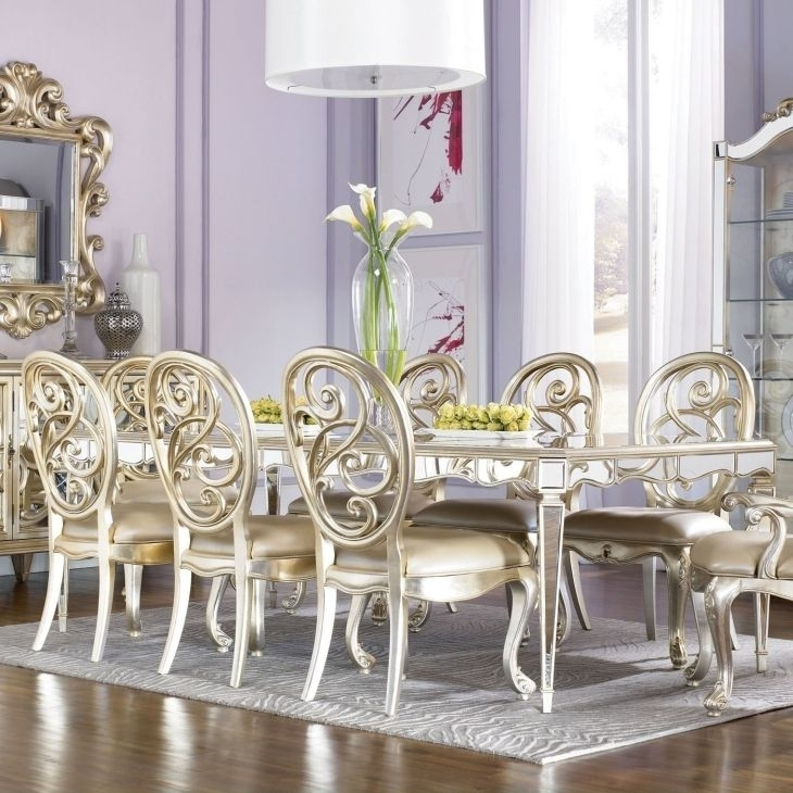 American Drew Jessica Mcclintock Couture Antique Mirrored Dining For Antique Mirror Dining Tables (View 22 of 25)