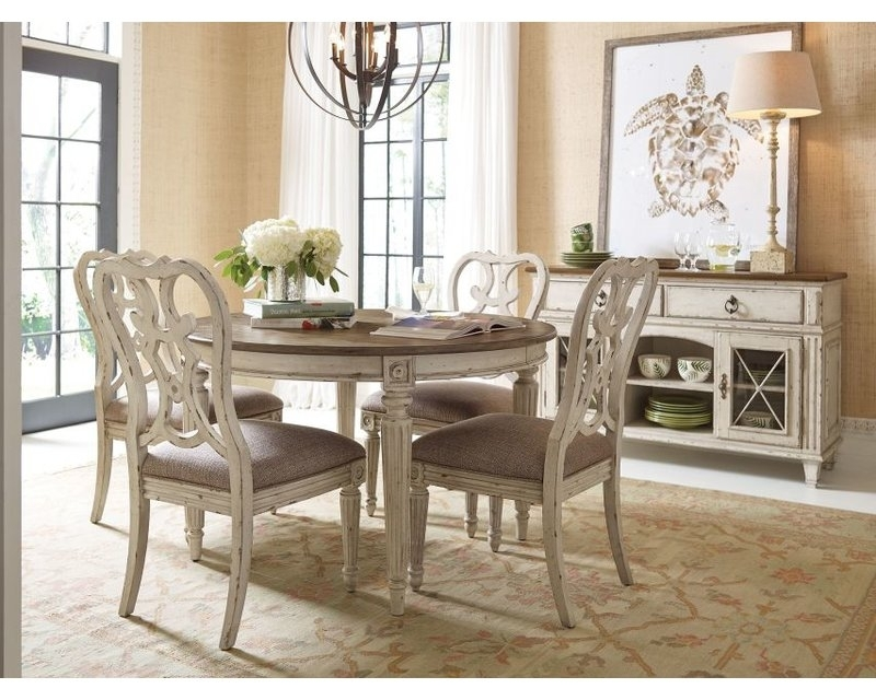 American Drew Southbury Extendable 5 Piece Dining Set | Wayfair Regarding Caira Black 5 Piece Round Dining Sets With Upholstered Side Chairs (View 8 of 25)