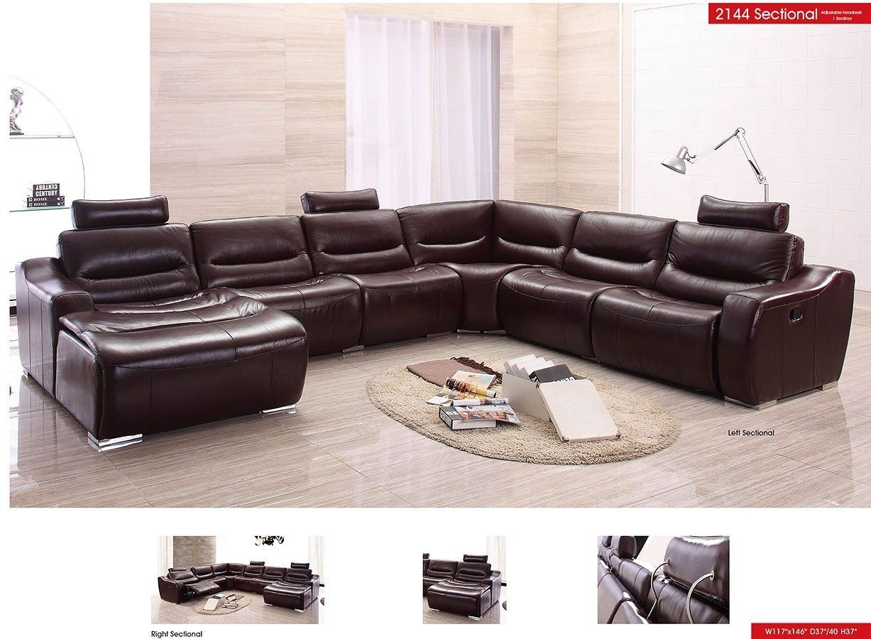 American Eagle Furniture Ek Lb309 Dc Dark Chocolate Sofa C In Tenny Dark Grey 2 Piece Right Facing Chaise Sectionals With 2 Headrest (Image 4 of 25)