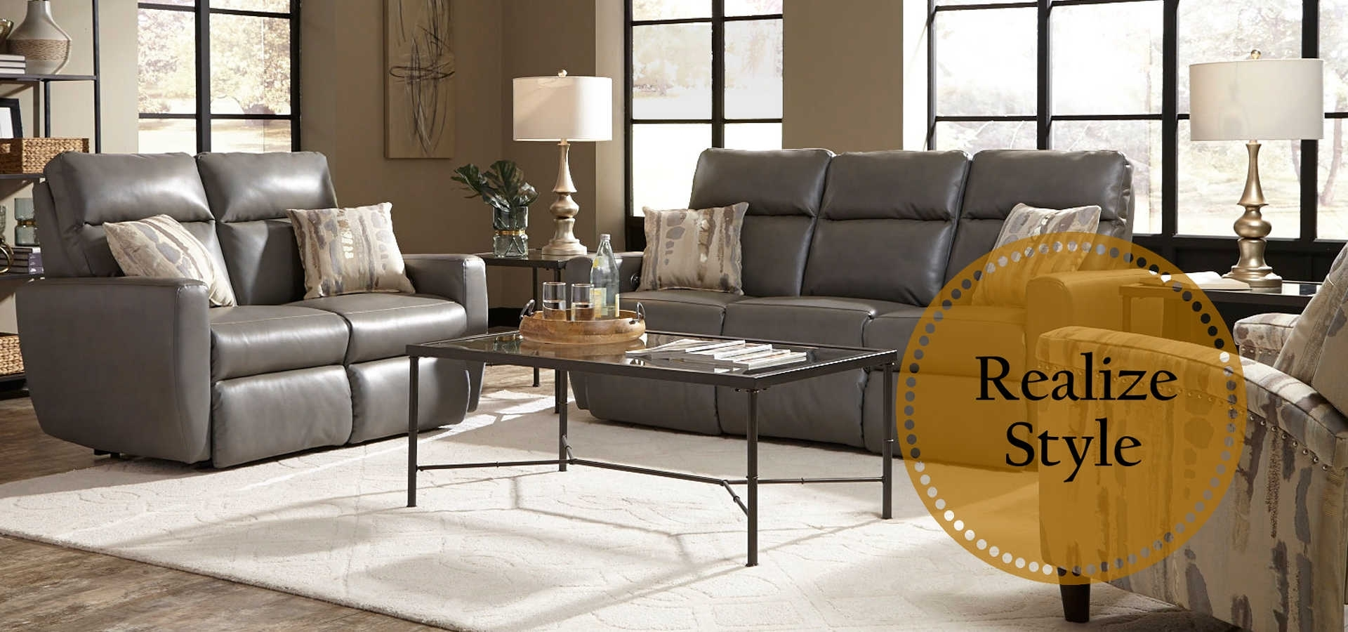 American Made Motion Furniture & Reclining Living Room Sets For Travis Cognac Leather 6 Piece Power Reclining Sectionals With Power Headrest & Usb (Image 1 of 25)