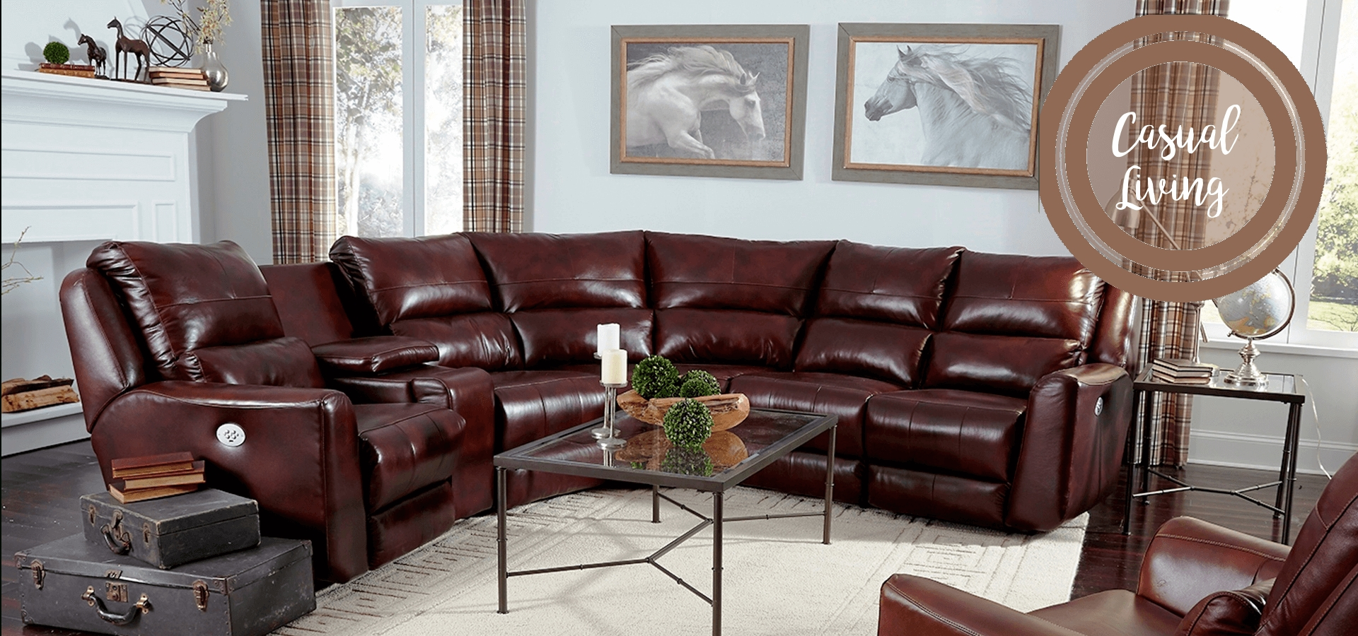 American Made Motion Furniture & Reclining Living Room Sets With Regard To Travis Cognac Leather 6 Piece Power Reclining Sectionals With Power Headrest & Usb (Image 4 of 25)