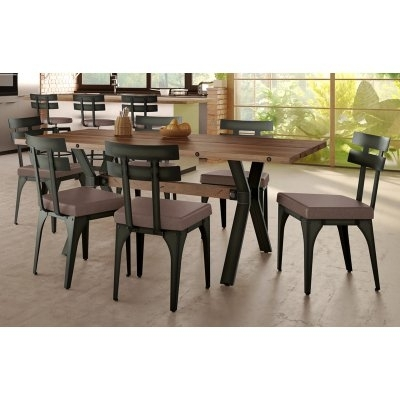 Amisco Laredo Knowlton 7 Piece Dining Table Set In 2018 | Products Intended For Market 7 Piece Dining Sets With Side Chairs (Image 5 of 25)