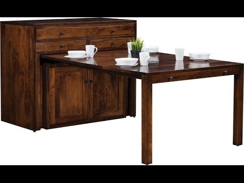 Amish Century Buffet With Pullout Dining Table – Youtube For Kirsten 5 Piece Dining Sets (Image 2 of 25)