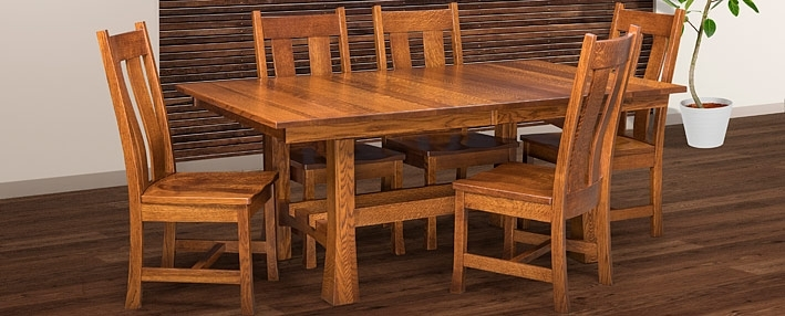 Amish Dining Room Tables & Chairs Sets – Mission Style | Cabinfield For Craftsman Rectangle Extension Dining Tables (Image 4 of 25)